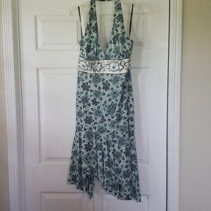 Nichole Miller NWT Halter top teal dress